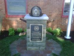 9 11 Fire Department Memorial on a Paved Area